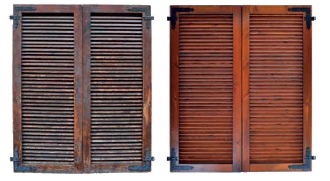 Restauro Serramenti in legno Piazzale Piola Milano